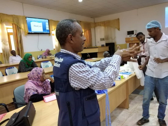 Training health workers to fight COVID-19 in Sudan